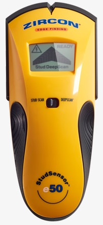 Zircon StudSensor™ e50 stud finder front view.