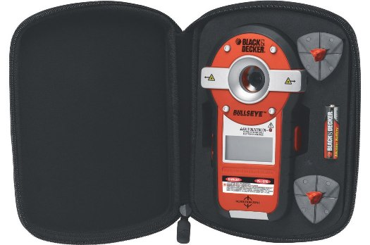 Black and Decker Bullseye stud finder with a level.